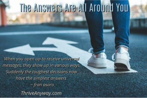 The Answers Are all Around You Thrive Anyway Fran Asaro